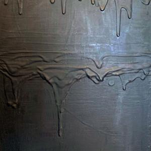 black wood panel